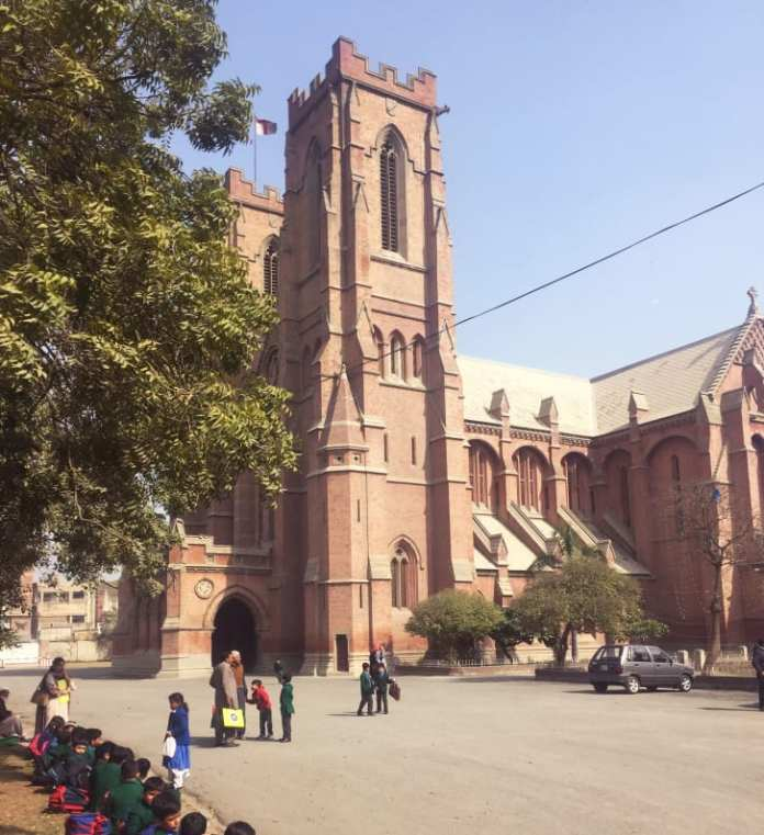 Children attend school at the Cathedral Church in Lahore.
