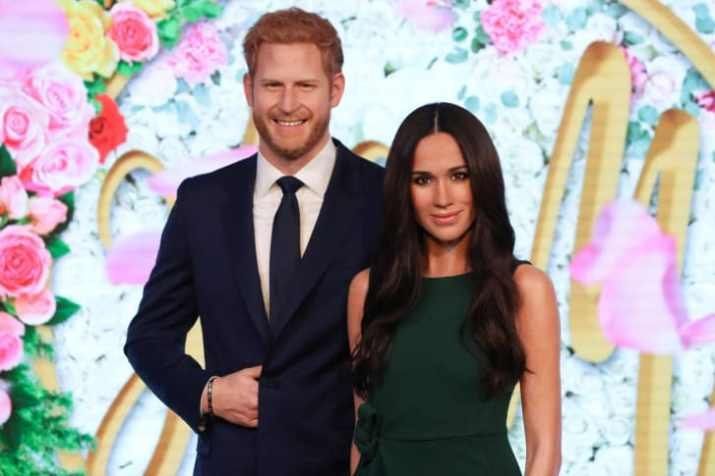 Wax figures of Harry and Meghan were unveiled at Madame Tussauds in central London on May 9, 2018.