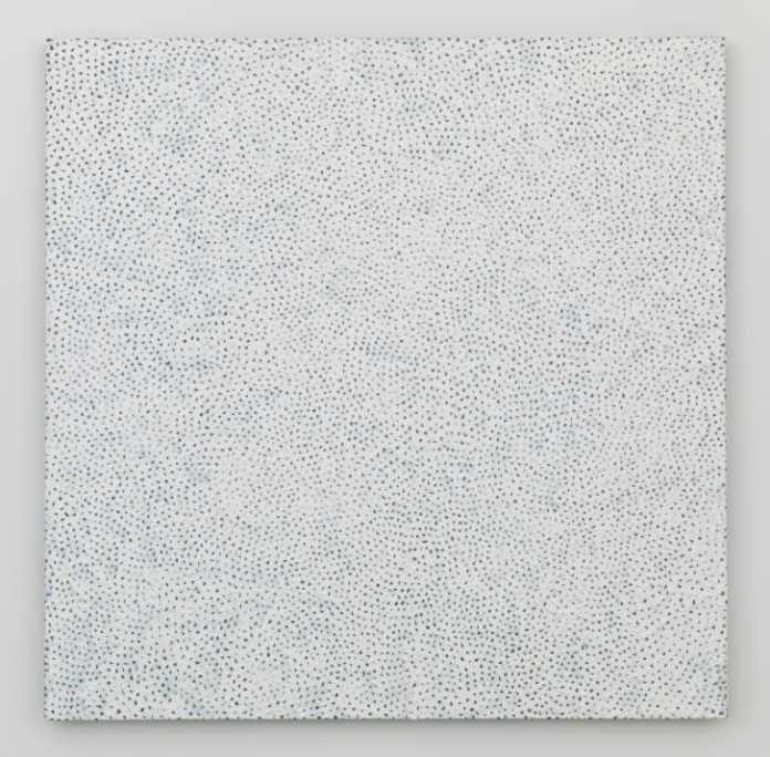"""A 2006 painting from Kusama's ongoing """"Infinity Nets"""" series."""