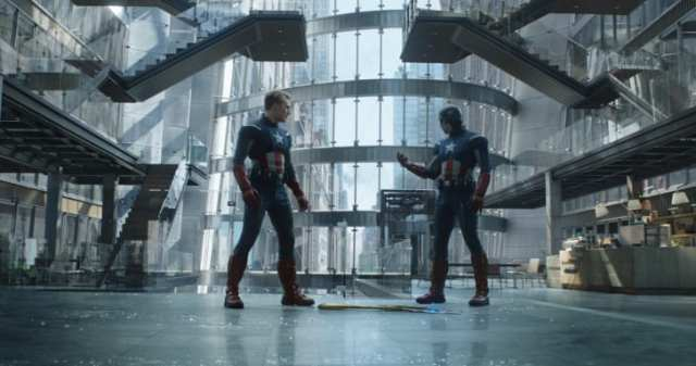 """Endgame's"" time travel plot saw the revival of costumes from previous films, including the first ""Avengers"" movie from 2012. Makovsky said Marvel Studios opened up their costume archives for old designs to be reused or remade."