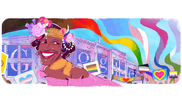 Google Doodle of Marsha P. Johnson, beloved trans-rights activist, will close out Pride month