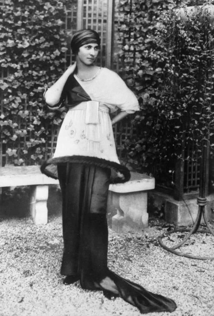 Madame Denise Poiret, wife of French fashion Designer Paul Poiret.
