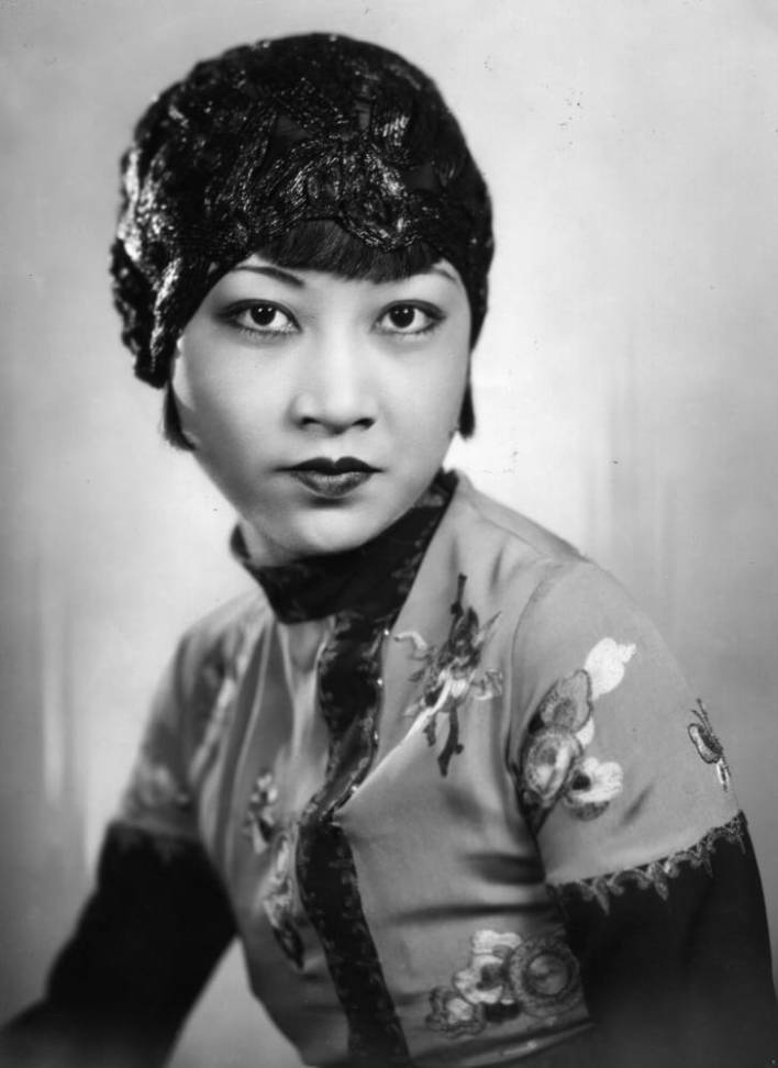 Silent film actress Anna May Wong was known for her taste in headscarves.