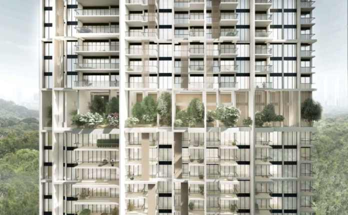 """The towers' facades will feature balconies, sun-shading screens and a number of """"sky terraces"""" filled with trees and plant life."""