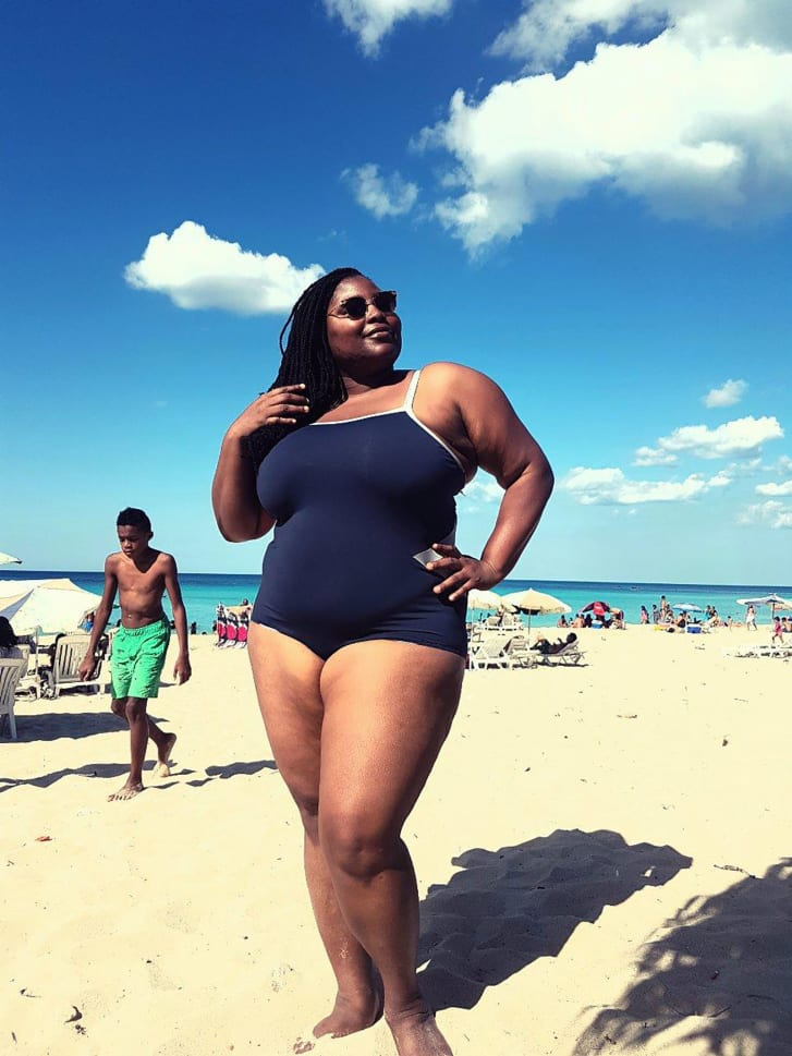 The image of Wana Udobang on a beach in Cuba that went viral