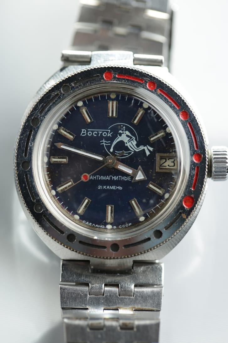 """A Vostok Amphibian, known as """"Scuba Dude."""""""