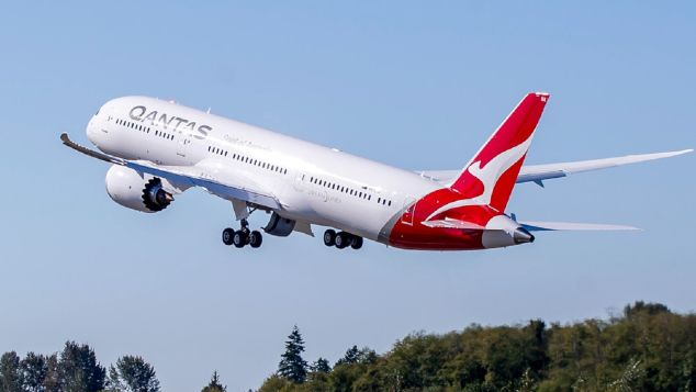 Qantas's first Boeing 787 will launch non-stop flights between the UK and Australia in March, 2018