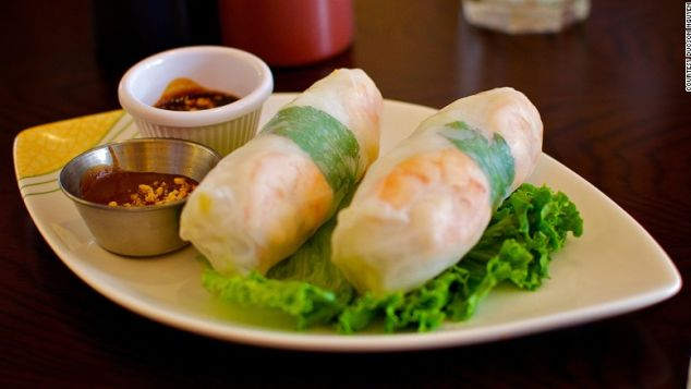 Summer rolls: Light, refreshing and wholesome.