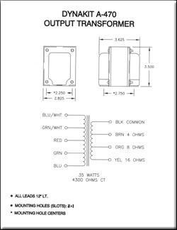 dynakit transformer schematics dynakit parts Transformer Single Line Schematic