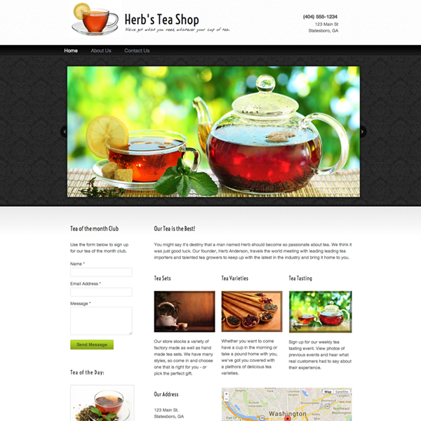 sample websites free website