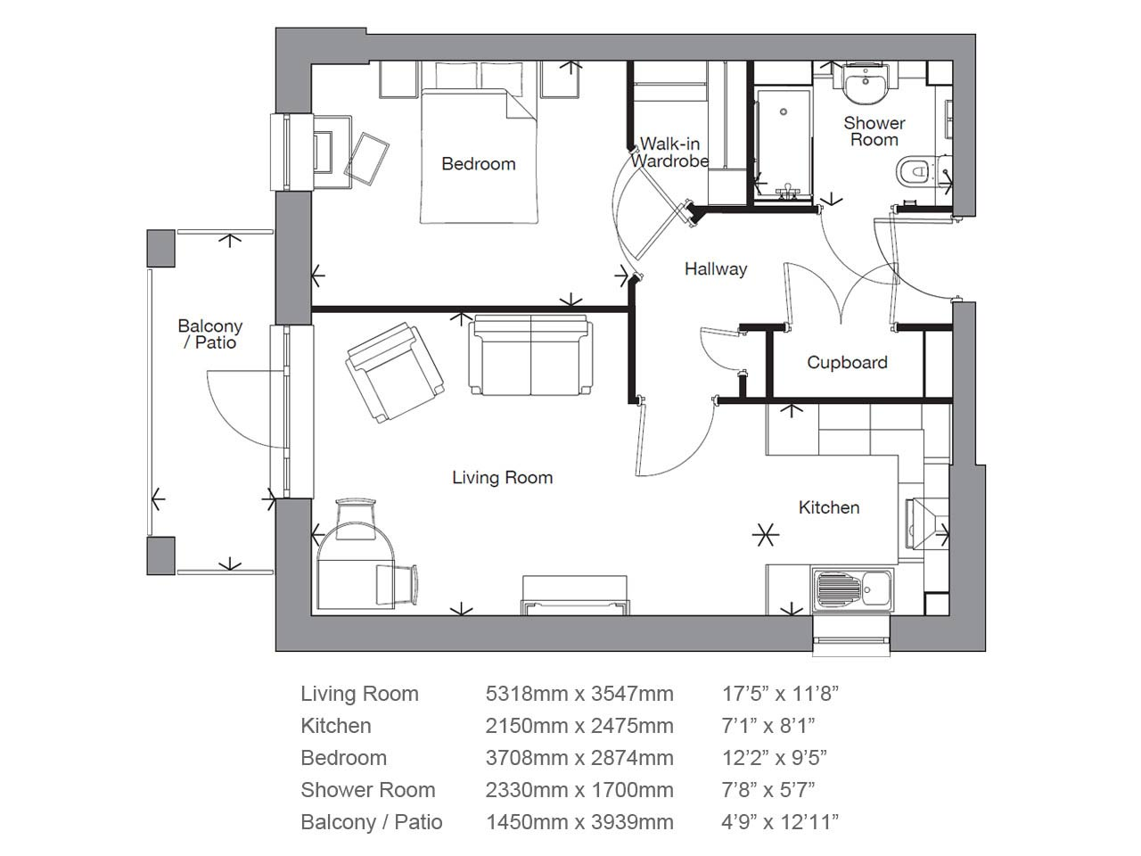 Retirement Property Apartment Number 14 Priced at £314,950