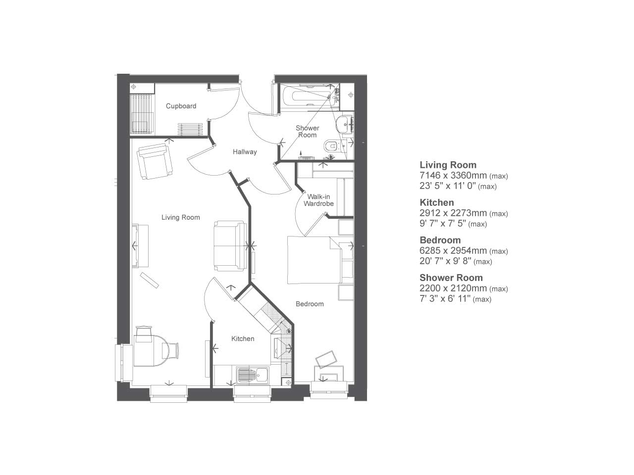 Retirement Property Typical 1 bedroom from for £166,999 in