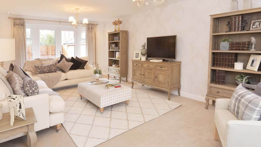 living room show homes decorate small sectional sofa moorecroft the spinneys burbage home by