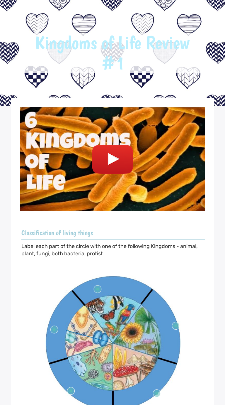 medium resolution of Kingdoms of Life Review #1   Interactive Worksheet by D. Clark   Wizer.me