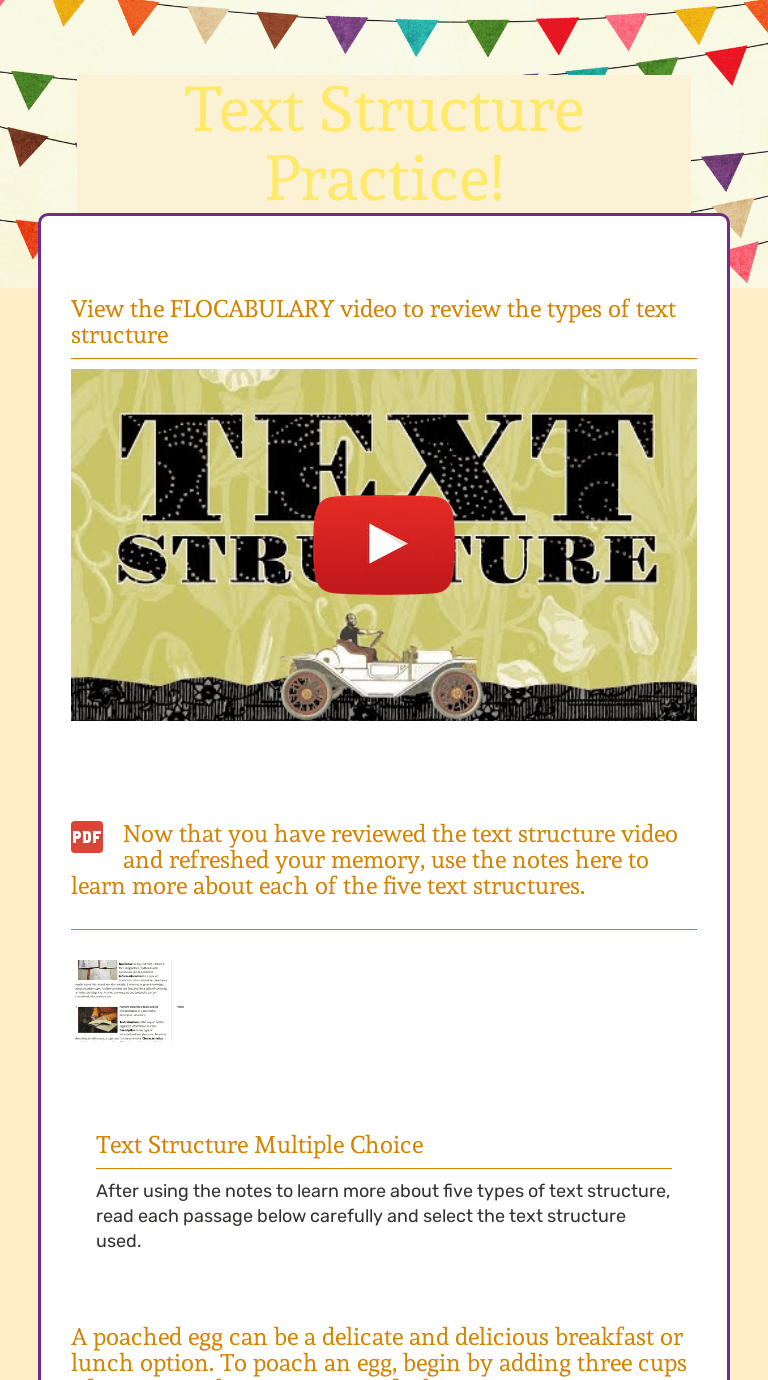 medium resolution of Text Structure Practice!   Interactive Worksheet by Allison Griswold    Wizer.me