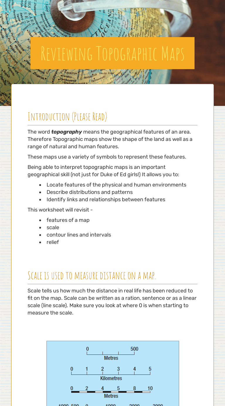 hight resolution of Reviewing Topographic Maps   Interactive Worksheet   Wizer.me