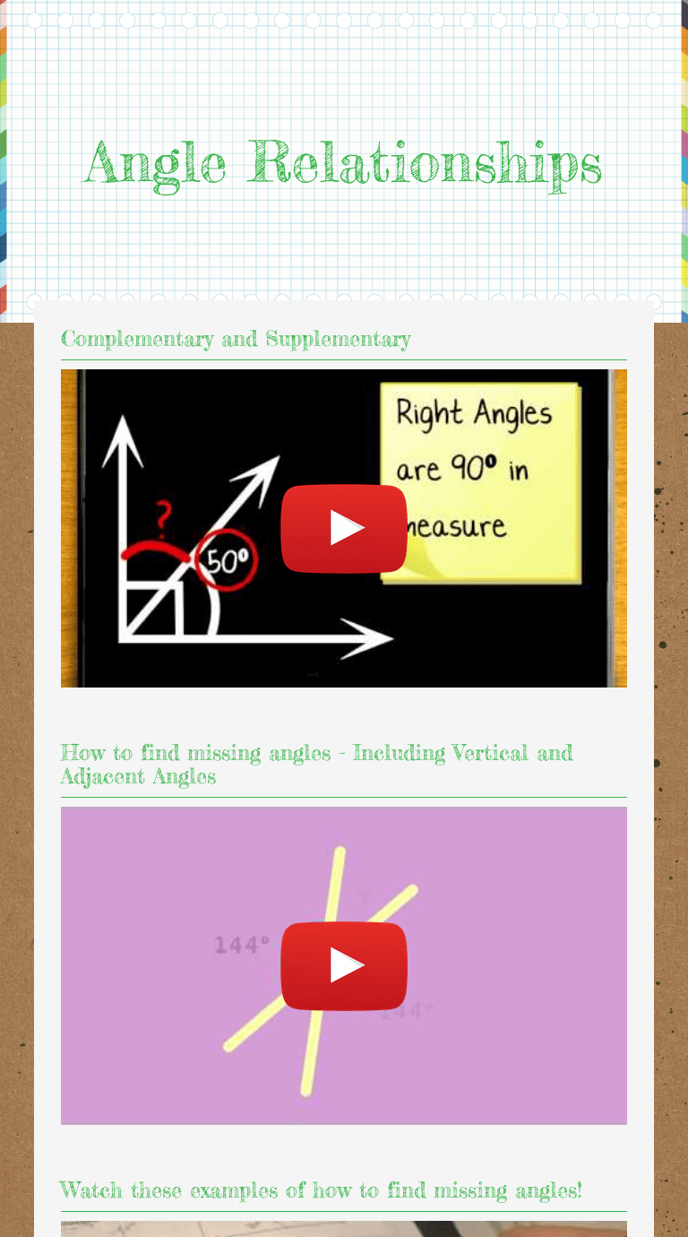 small resolution of Angle Relationships   Interactive Worksheet by Chelsie Hartman   Wizer.me