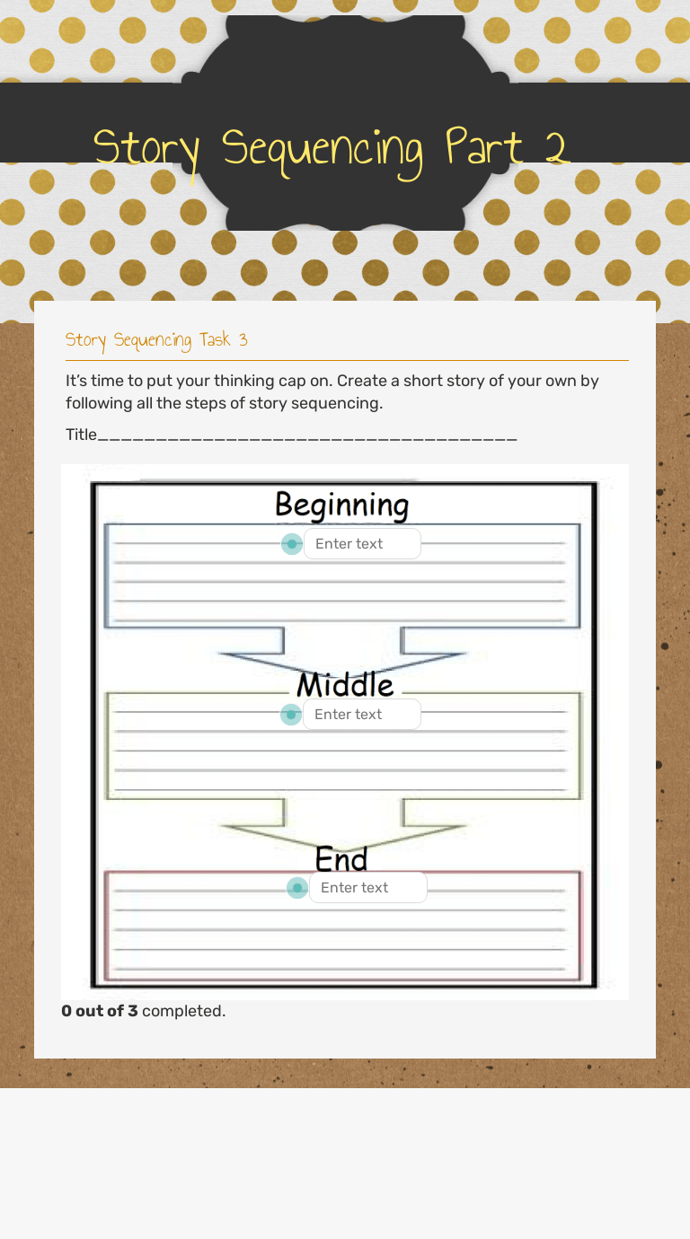 Story Sequencing Part 2   Interactive Worksheet by Samsun Nahar   Wizer.me [ 1380 x 768 Pixel ]