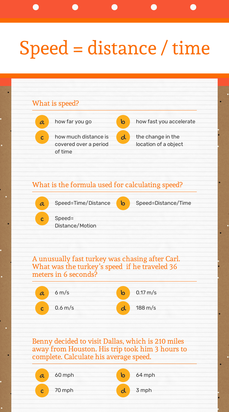 small resolution of Speed \u003d distance / time   Interactive Worksheet by Jamie Dilbeck   Wizer.me