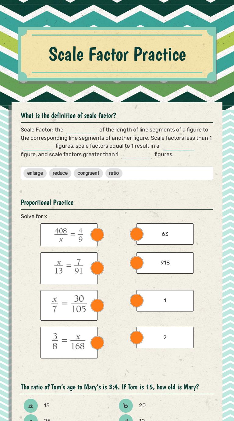 medium resolution of Scale Factor Practice   Interactive Worksheet by Melissa Kelley   Wizer.me