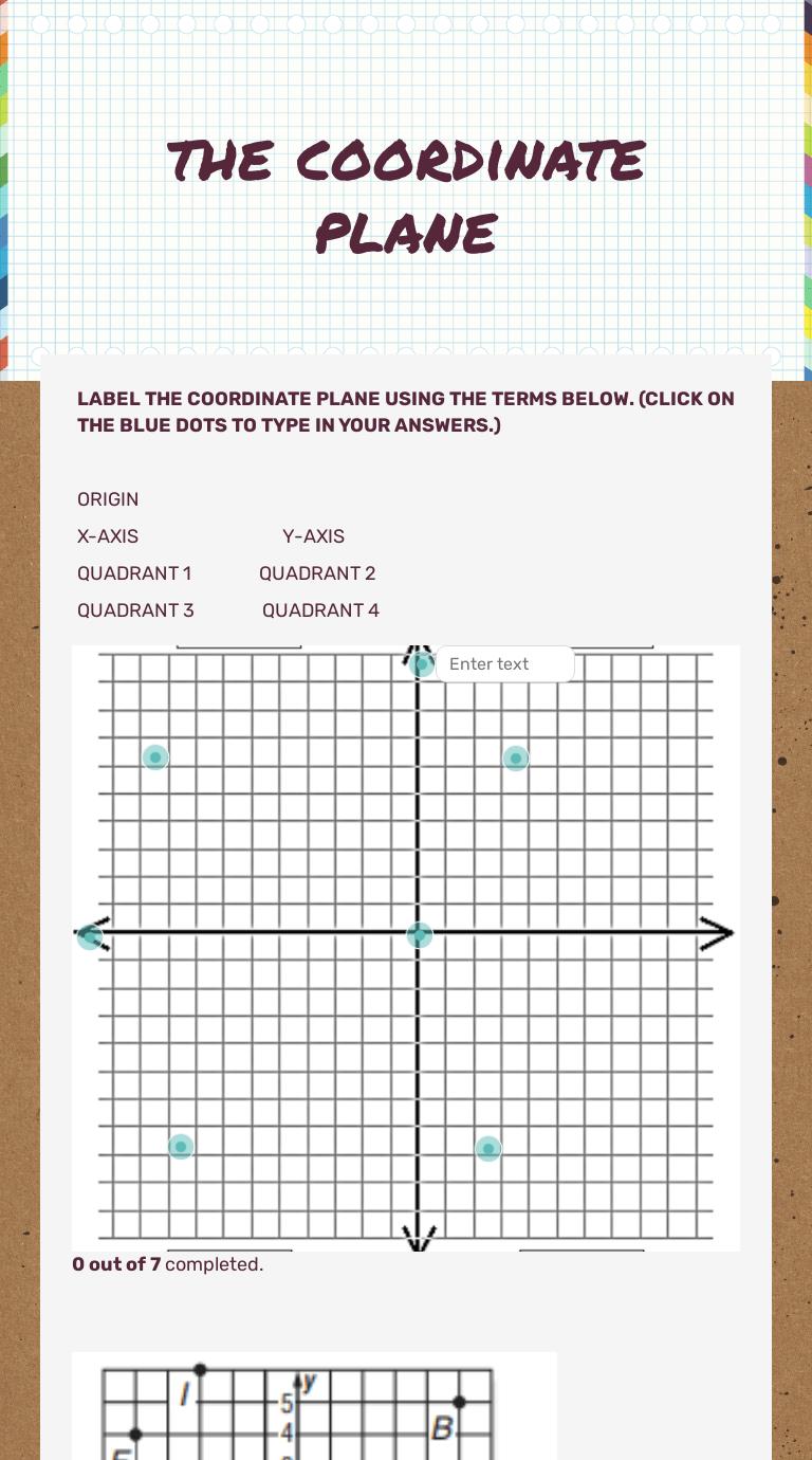 the coordinate plane   Interactive Worksheet by Yolanda Moore   Wizer.me [ 1380 x 768 Pixel ]