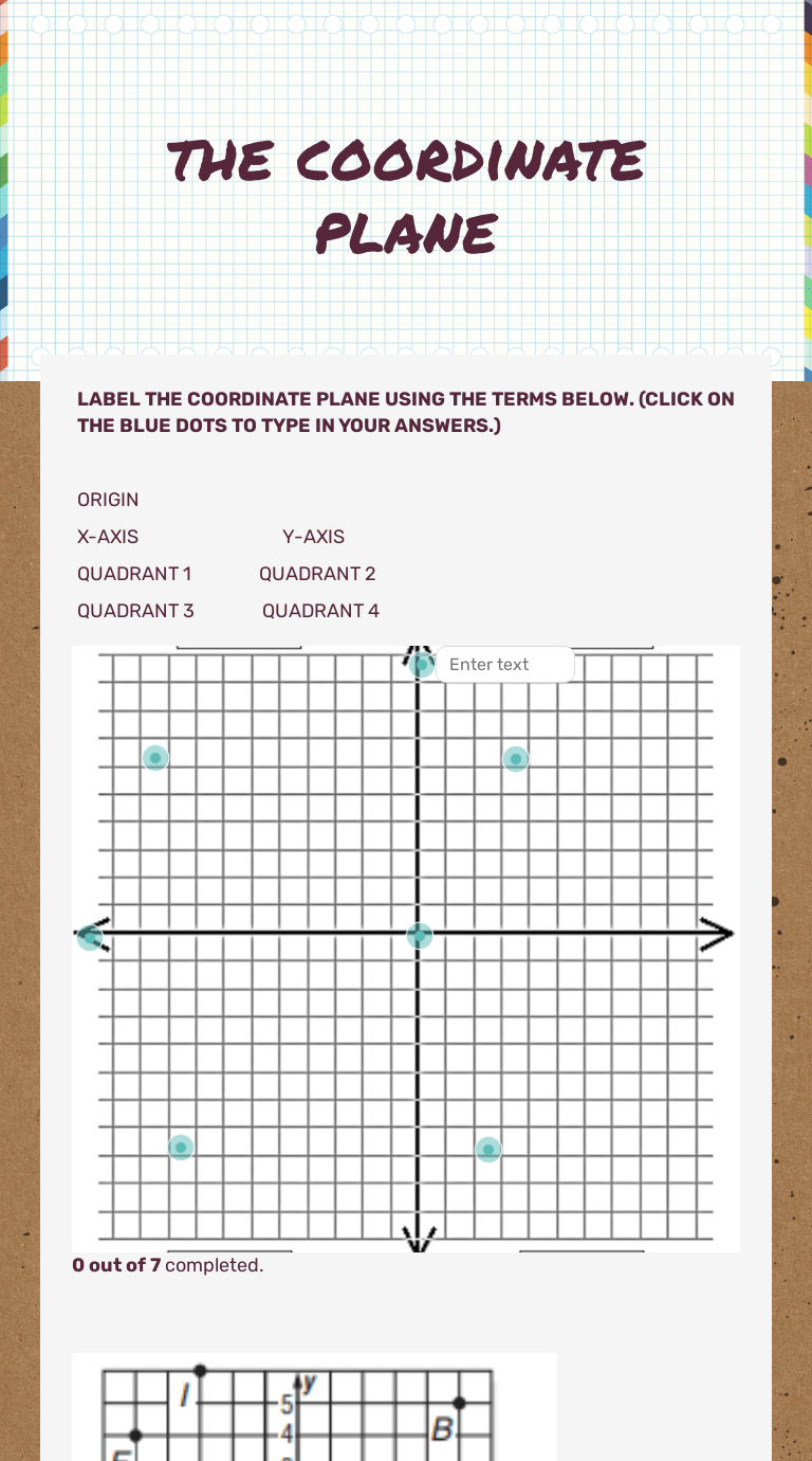 hight resolution of the coordinate plane   Interactive Worksheet by Yolanda Moore   Wizer.me