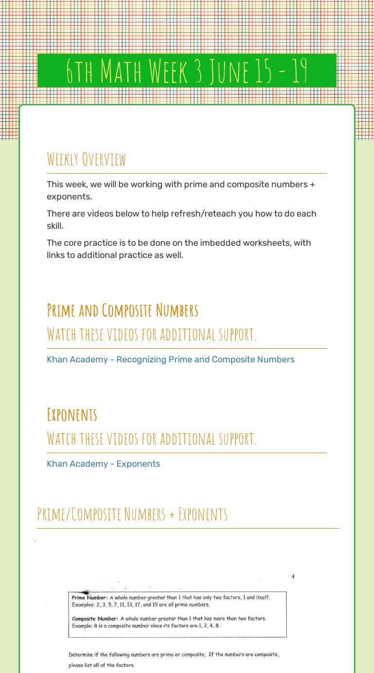 medium resolution of 6th Math Week 3 June 15 - 19   Interactive Worksheet by Jessica Stickel    Wizer.me