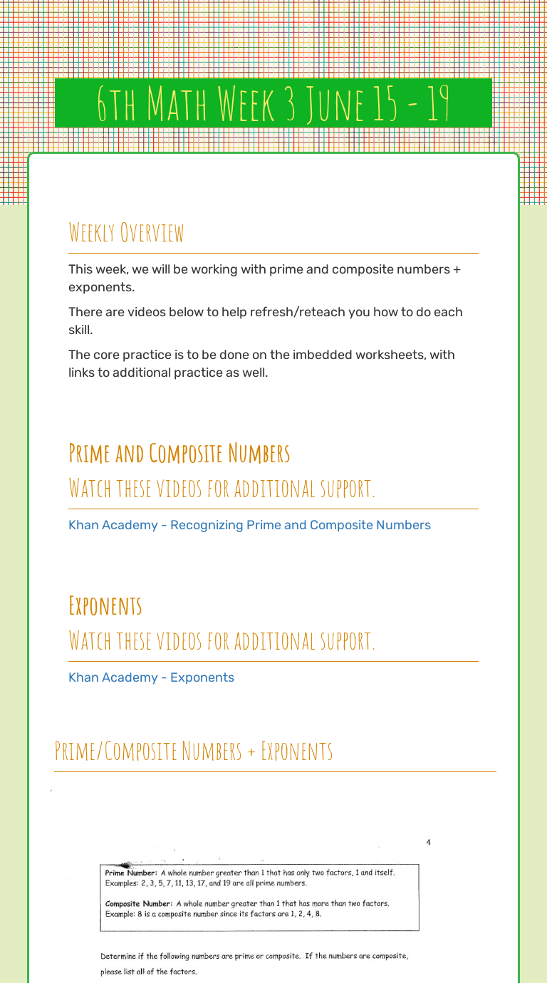 hight resolution of 6th Math Week 3 June 15 - 19   Interactive Worksheet by Jessica Stickel    Wizer.me