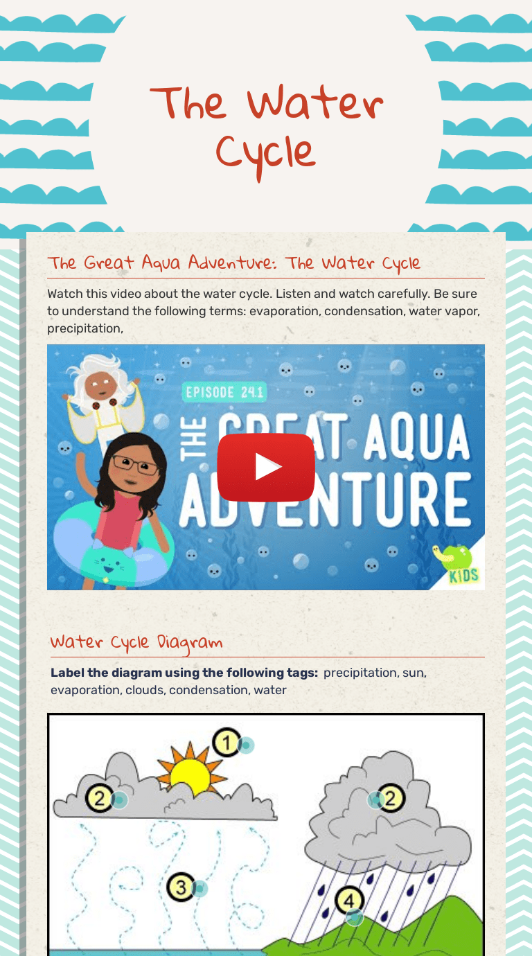 small resolution of The Water Cycle   Interactive Worksheet by Veronica Quinlan   Wizer.me