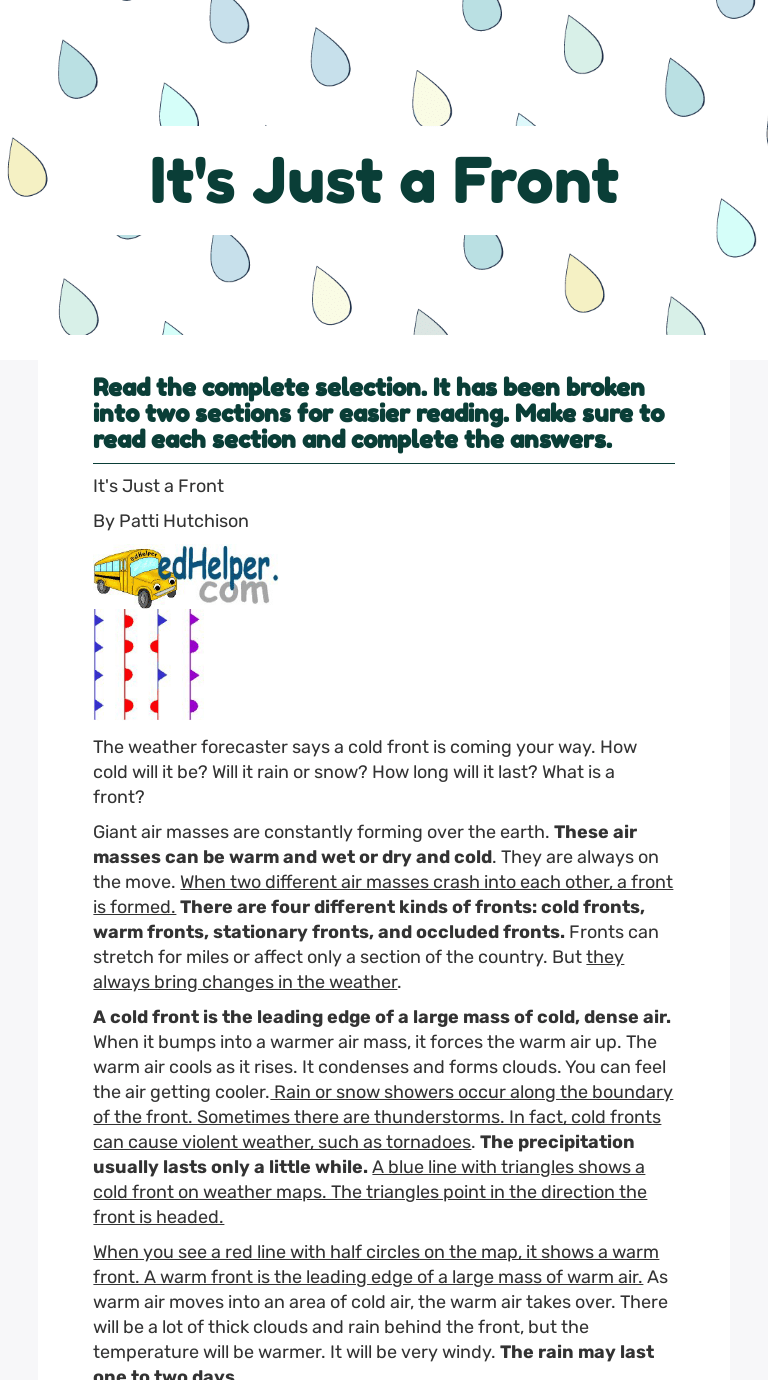 hight resolution of It's Just a Front   Interactive Worksheet by Samantha Jones   Wizer.me
