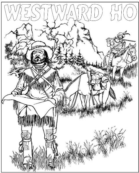Free coloring pages of pecos bill
