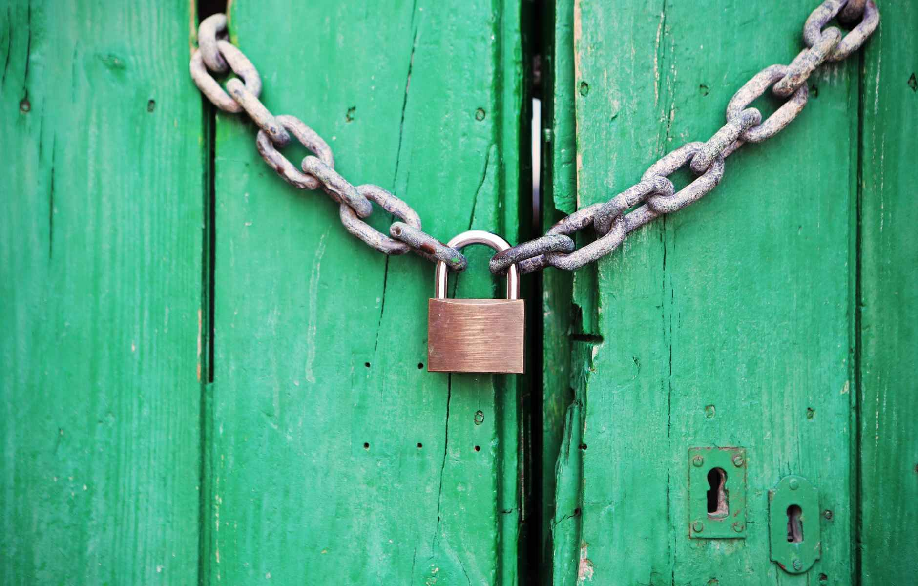 door green closed lock