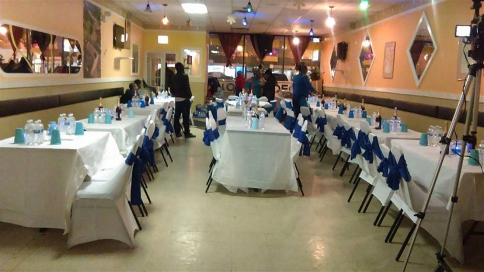 Tables set for Party with Blue Accents (1138 x 640)