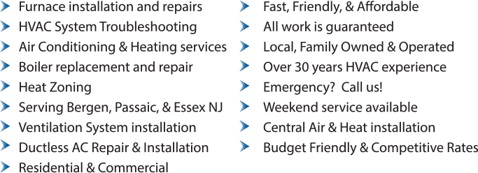 HVAC, Boilers, Furnace, & Zoning Services in NJ
