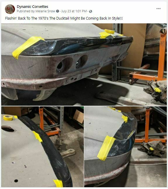 Facebook Post about our Custom Fiberglass Duck Tail for C2 Corvettes