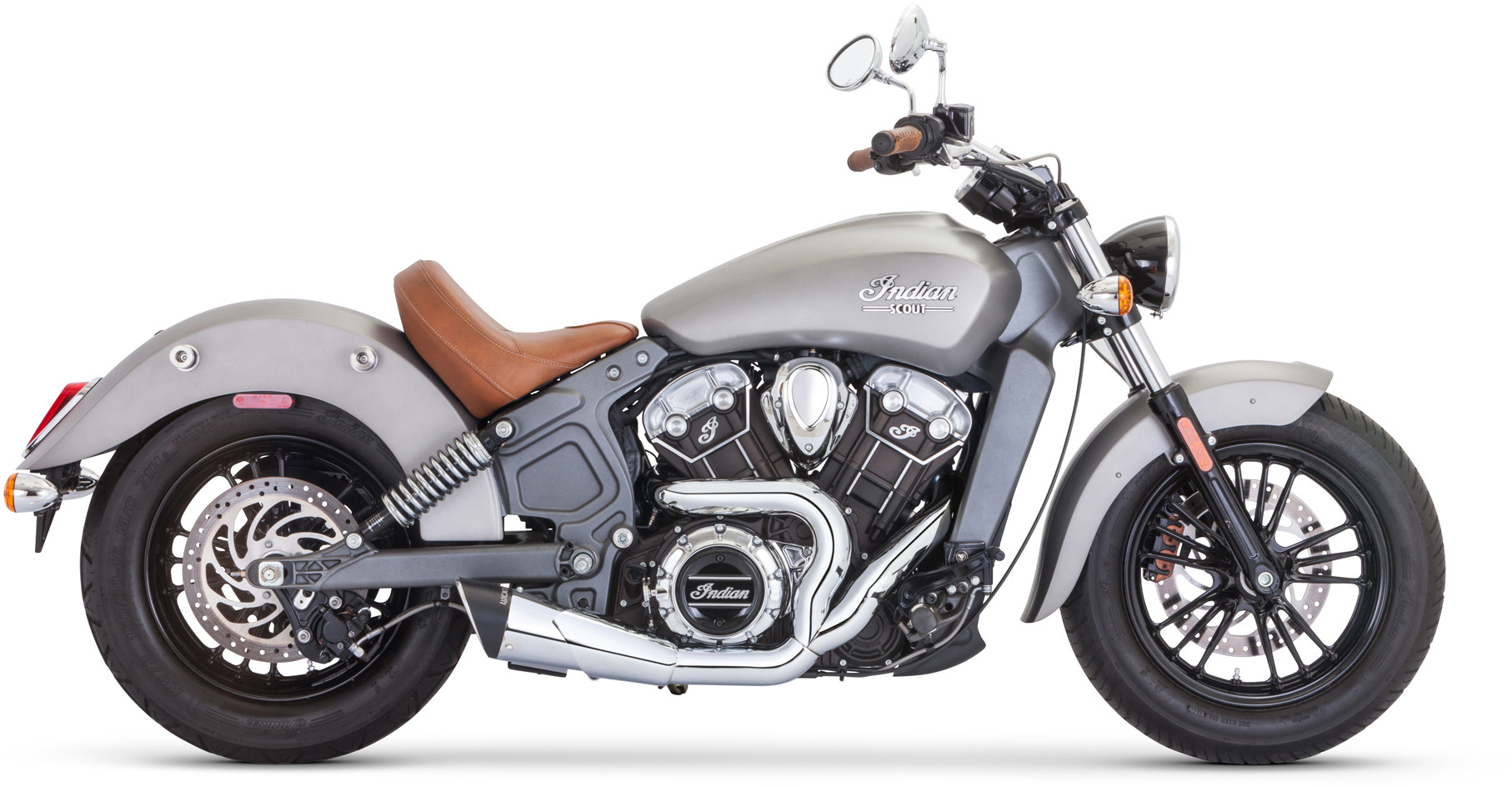 freedom scout combat shorty 2 into 1 exhaust chrome indian scout scout sixty scout bobber 2015 2020