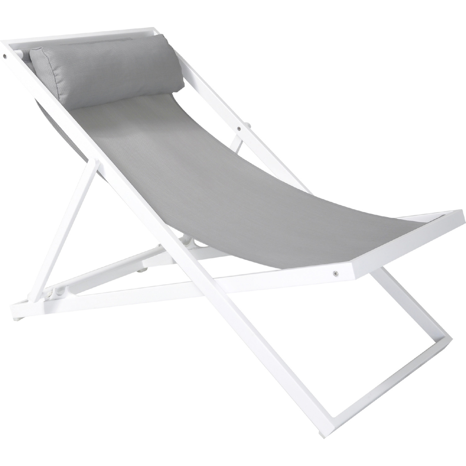 White Outdoor Lounge Chair Wave Outdoor Lounge Chair In Grey Sling Textilene White Aluminum In By Armen Living