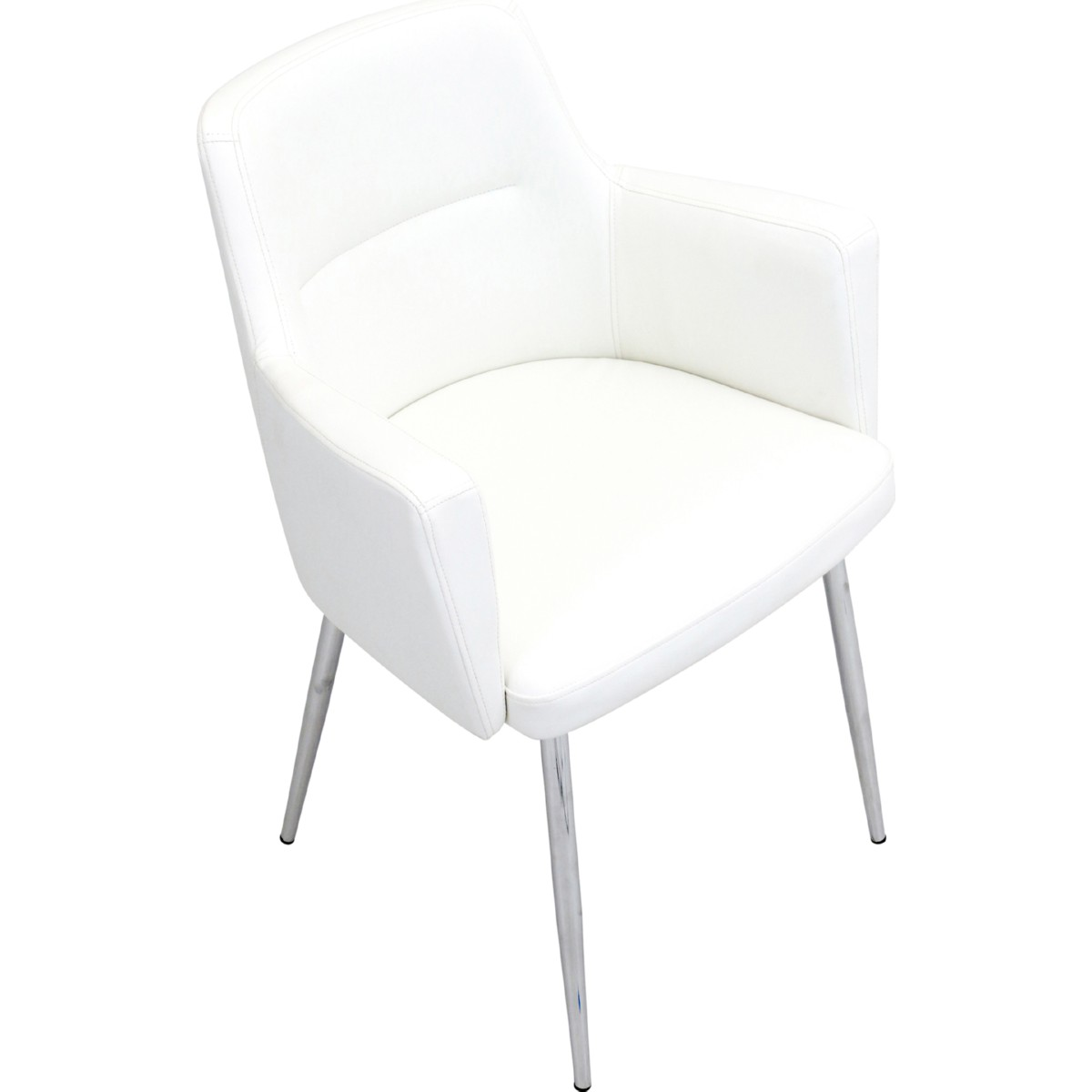 Eggshell Chair Andrew Accent Chairs In Chrome W Eggshell Leatherette Set Of 2 By Lumisource