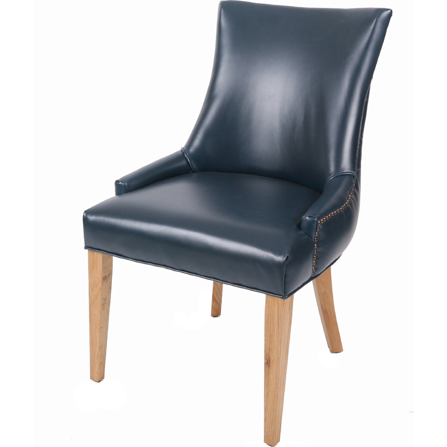 Blue Leather Dining Chairs New Pacific Direct 3500049 V05 Celinda Tufted Back Chair