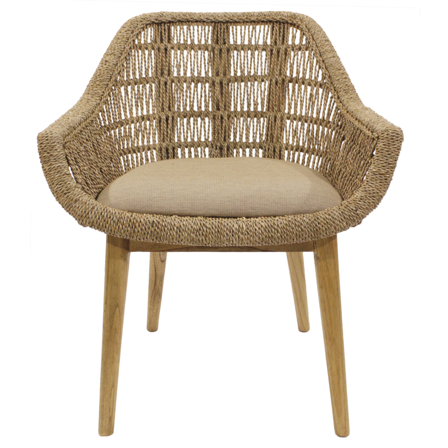Seagrass Dining Chair Leia Dining Chair In Natural Seagrass Rattan By New Pacific Direct