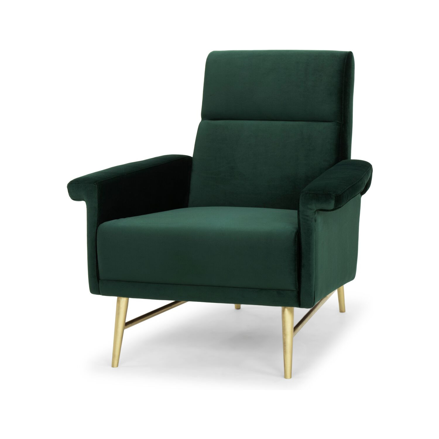 Emerald Green Accent Chair Mathise Accent Chair In Emerald Green Fabric On Gold Steel By Nuevo Modern Furniture