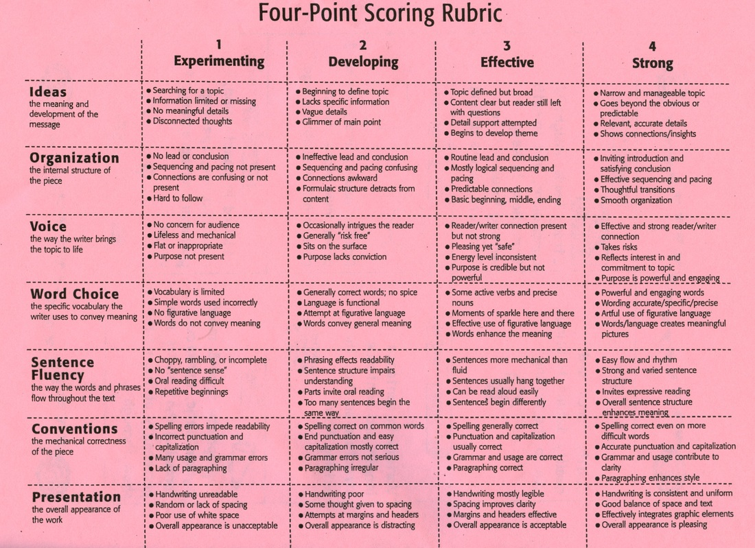 Persuasive Writing Rubric 5th Grade