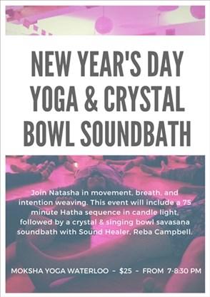 Moksha Yoga Waterloo Schedule : moksha, waterloo, schedule, Year's, Crystal, Soundbath, January, 01,2018, Toronto.com