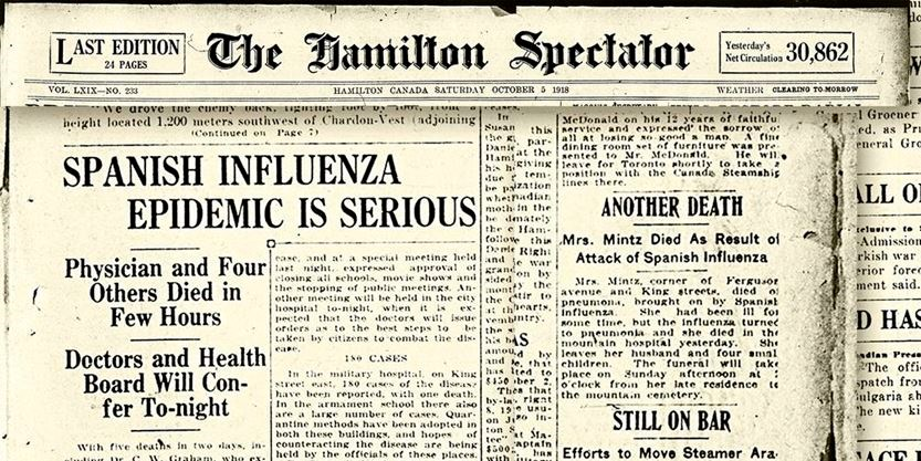 Spanish influenza epidemic 1918 and COVID-19 Outbreak