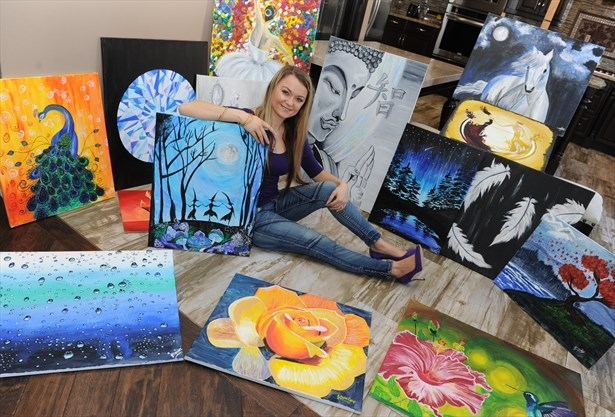 milton artist happy to
