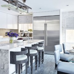 Kitchen Back Splashes Discontinued Cabinets A Little Less Drama Backsplashes Get Sleeker Thespec Com Although Are Often Made Of Porcelain Or Ceramic Tile Kirschner Used Stainless Steel To Give This Open Airy Fresh