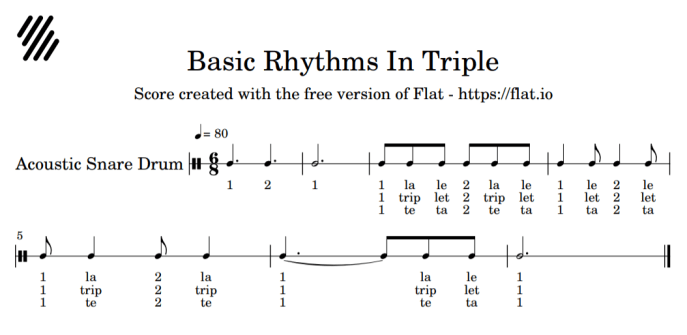 image basic rhythms in triple