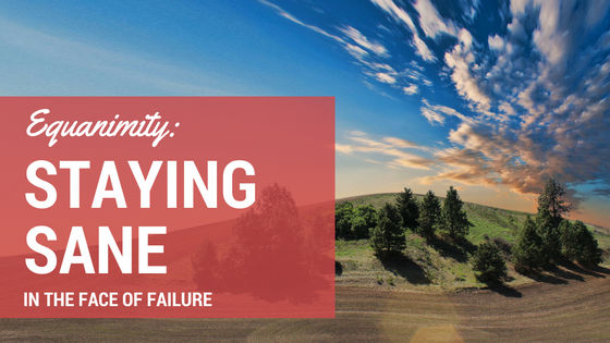 Equanimity: Staying Sane in the Face of Devastating Failure