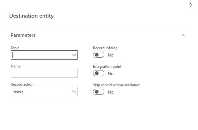 Add destination menu