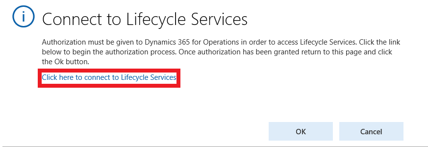 Connect to Lifecycle Services LCS